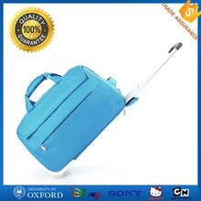 Low price simple waterproof wheeled duffle expandable travel bag