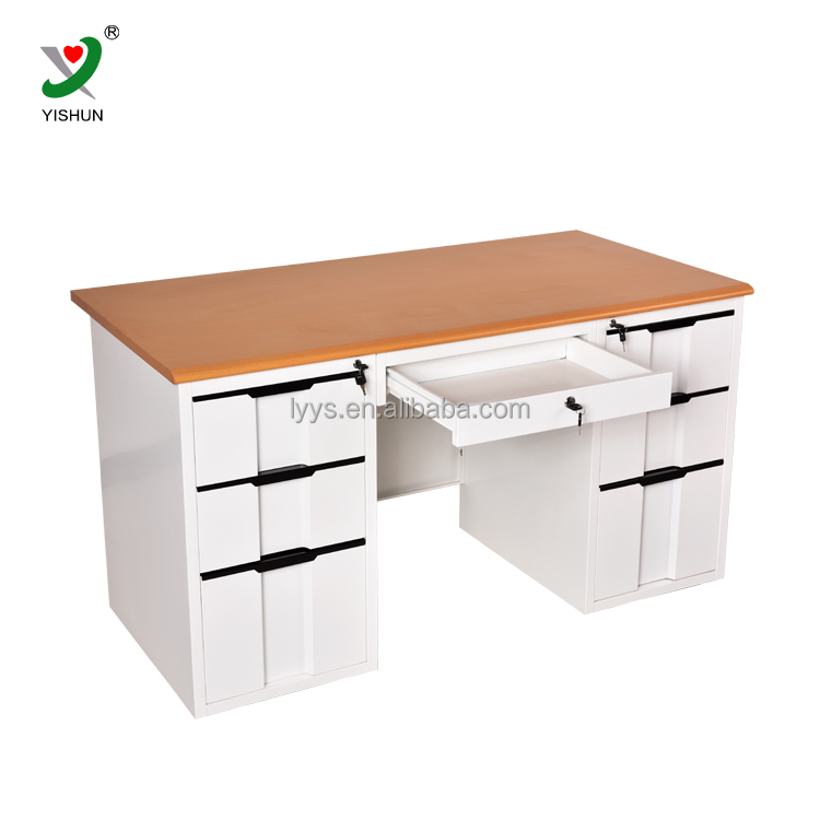 Luoyang Computer Table Office Desk Design steel computer desk table