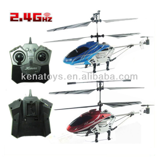 2.4G long fly time gyro metal 3.5-channel rc helicopter toys for resale