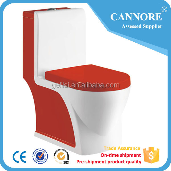 Porcelain sanitary ware bathroom ceramic color toilet with s-trap