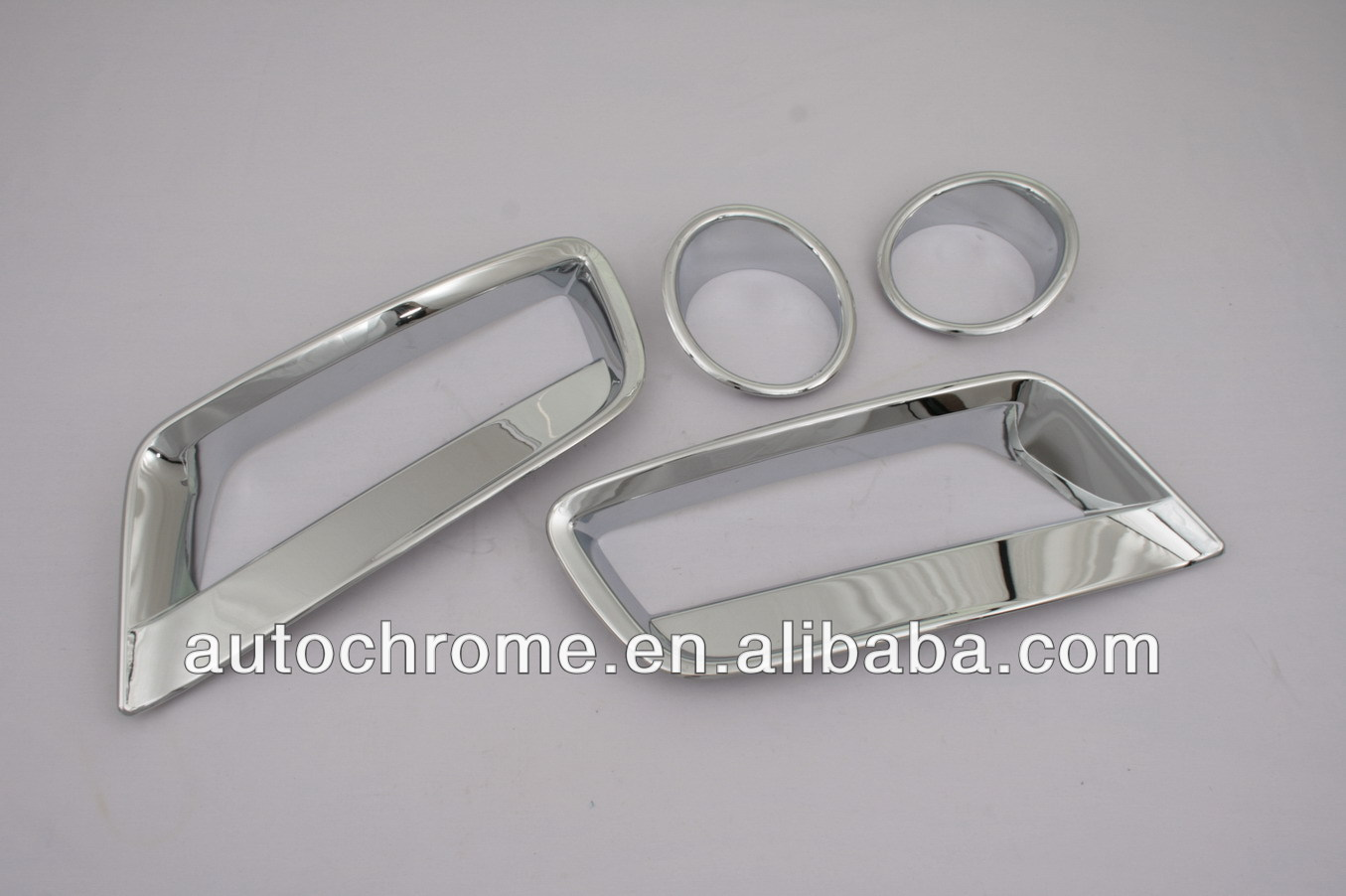 Chrome Front Fog Light Cover Upper And Lower Combo Set for BMW X3 F25