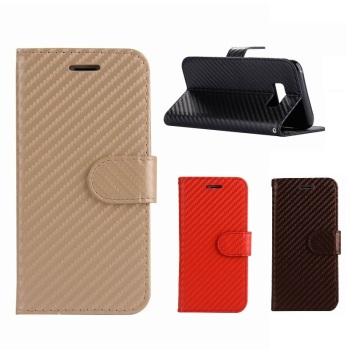 promotional phone case for Samsung S8, for Galaxy S8 Carbon fiber Leather Case