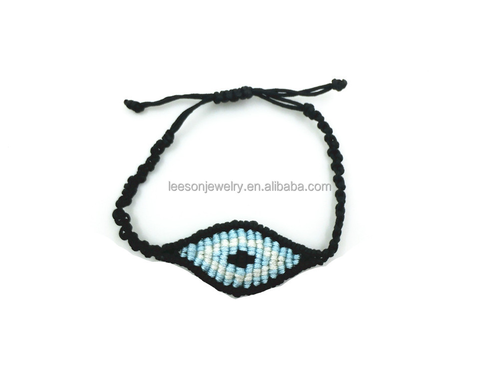 2017 Hippie Evil Eye Bracelet Hippy Bohemian Black Cotton Bracelet Rope String Friendship Bracelets For Women Men Dropshipping