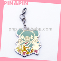 customized colorful zinc alloy enamel anime charm pendant