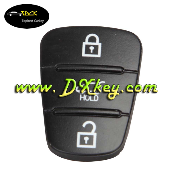 Top quality 3 button remote button rubber key pad for hyundai ix35 key