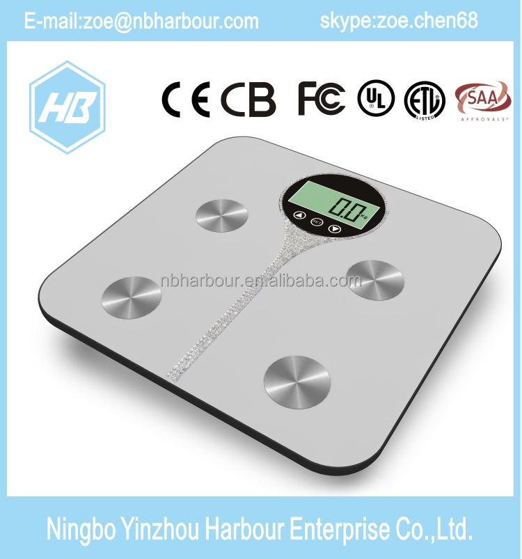 180kg smart bathroom scale LCD Display digital weight scale