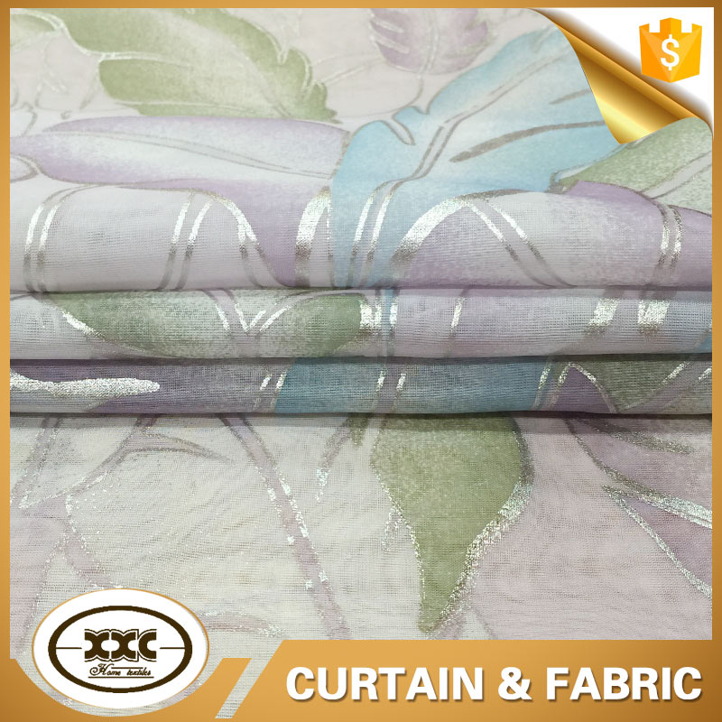 beautiful design leaf print curtain fabric