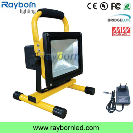 Portable Rechargeable Led Work Flood Light 12v 24v Battery Powered Ip65 Waterproof Outdoor 20w 10w Rechargeable Led Flood Light