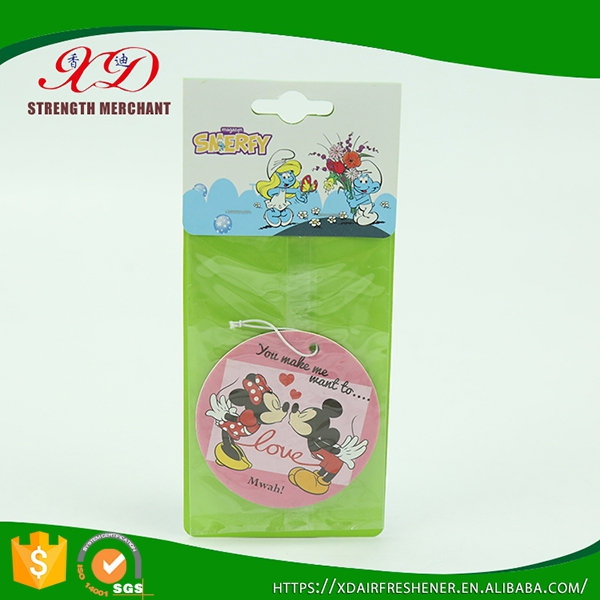 cartoon paper car fragrance /Mickey Mouse paper car air freshener