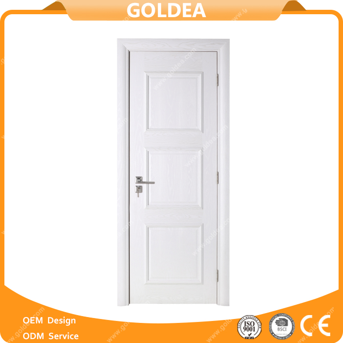 Goldea paper honeycomb core cardboard interior carved wooden door