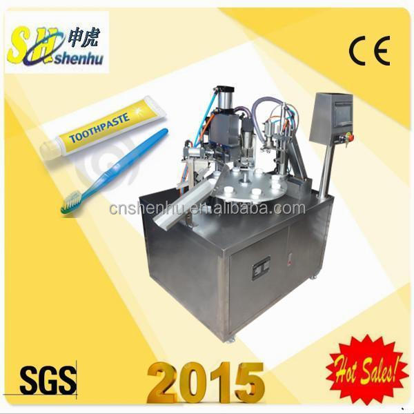 Hand cream plastic tube filler and sealer machine