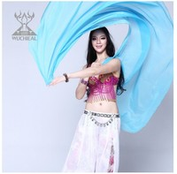 Belly Dance Veil, Belly Dance Performance Silk Veil, Belly Dance Performance Accessory (S27)