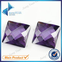 Square Amethyst facet flat back cubic zirconia