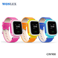 WONLEX with pu band wrist watch GPS+LBS+SOS+GSM kids small gps tracker