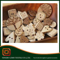 Clothing accessories cartoon wood button wholesales