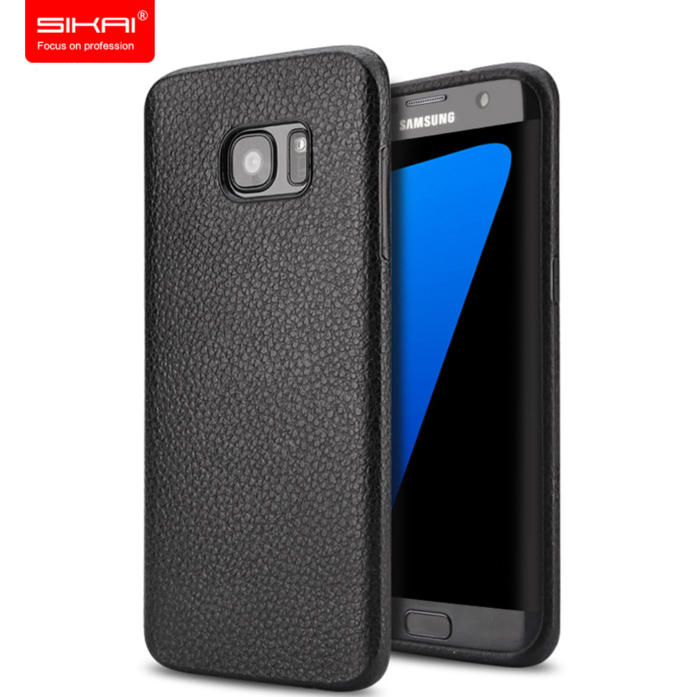 Low Price 360 Degree Protect Unique Leather Appearance Cover Silicone Case for Samsung S7 edge cell phone Protect Case