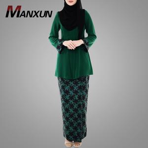 China Factory Wholesale Muslim Traditional Abaya Printed Baju Kurung Modern Baju Kebaya Malaysia