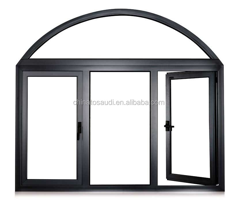Glass door metal frame concrete window and door frame