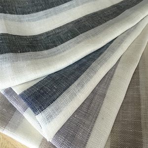 2018 new fashion 27mm stripe flax fabric/linen fabric/fabric linen