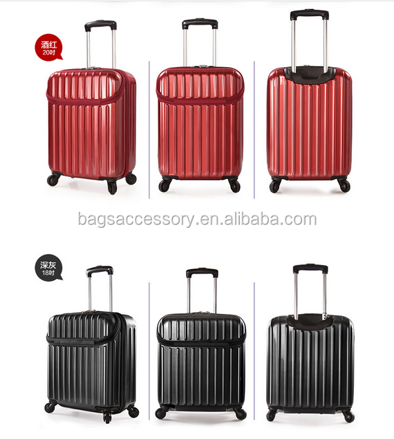 open box Cities The Collection Hand Luggage, royal trolley luggage 42 Liters, Plain Black Set of 2 personalized luggage sets