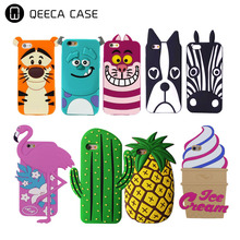 Cheap price mobile phone silicone 3D animal cell phone case