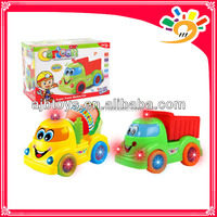 2013Newest Mini Truck,Plastic B/O Bump And Go Cartoon Truck Toys For Sale