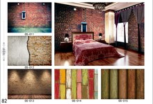 The brick wood wallpaper design home 3D wallpaper