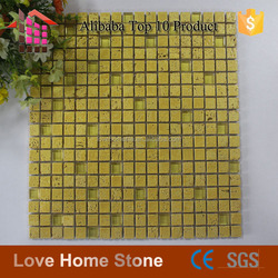 2016 newest design gold mosaic tile,wall marble mosaic tile 30x30