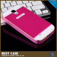 hot sale hard back metal cases for samsung galaxy s4 metal bumper case