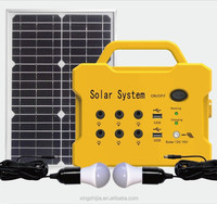 JCN Intellingent Small Home Solar Power Lighting System F101with 2pcs led