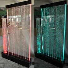 Nightclub bar floor standing and hanging decor bubble wall led acrylic water bubble panels
