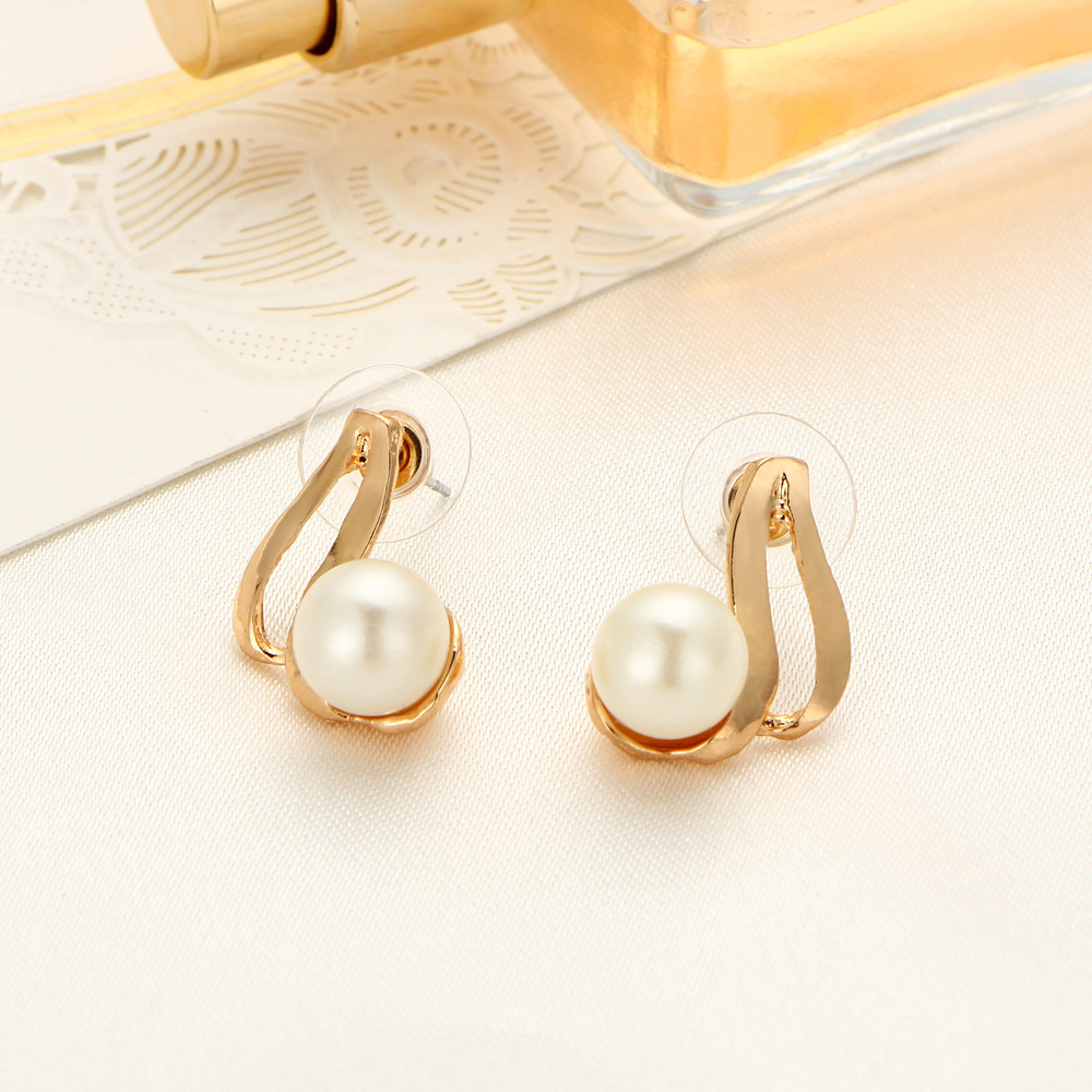 Latest Design Pearl Jewelry Set With Plated Gold Pearl Jewelry Set