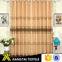 Kangtai Textile 2016 new arrival jacquard fabric curtain with embroidery