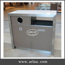 100L Open Top Shopping Mall Stainless Steel recycling Waste Rubbish Bin