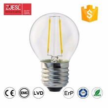 2 w led filamento luces G45
