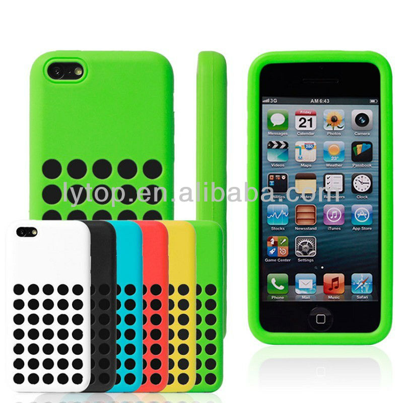 New design silicone case for iphone 5c original, smartphone cover for iPhone 5c cases silicone with hole