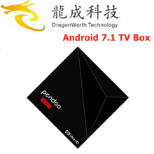 factory hot sales Pendoo A5X Plus Mini RK3328 1G 8G free to air set top box with CE&ISO Android 7.1 TV Box