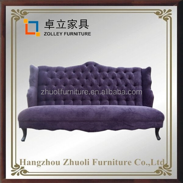 Franch style tufted button back sofa set designs with factory price,wooden fabric sofa furniture
