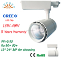 40W LED track light 4 wire 100LM/W AC220-240V COB track spot light3 years warranty CE RoHS approval