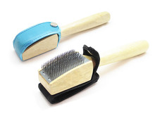 XS00001 top grade Wooden handled dance shoe cleaning brush