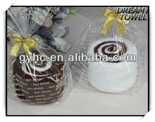 dreamy promotional 100% cotton solid color hand towel gift for wedding