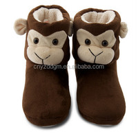 Plush Novelty Christmas winter home slippers/cheap wholesale slippers