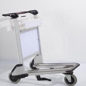 Portable aluminum stainless steel transporting airport hand luggage carts trolley