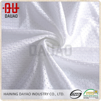 China polyester plain nude dry fit hexagonal mesh net fabric