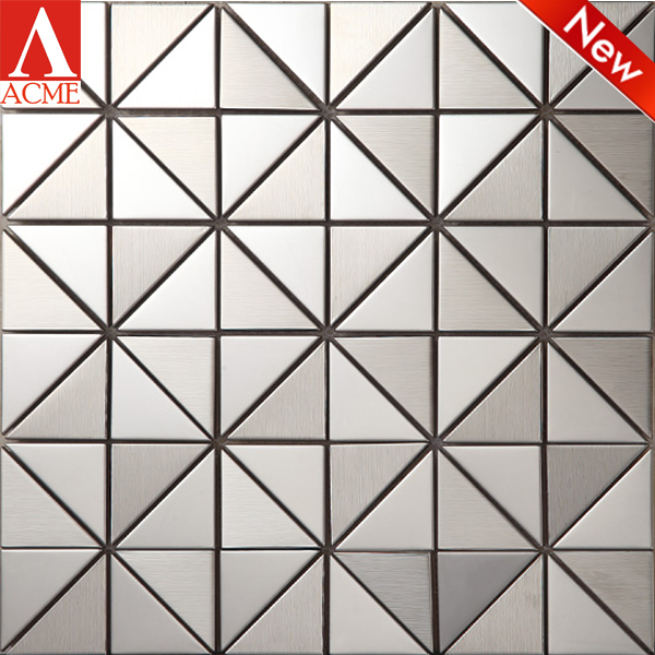 triangle mixed stainless steel mosaic tile Toilet wall decoration mosaic tile