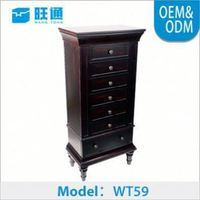 Luxury fashion recycled wood furniture jewelry armoire