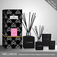 luxury fragrance reed diffuser with rattan sticks for gift set