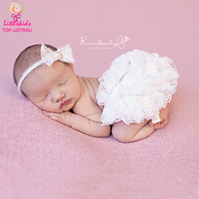 Fashion kids Newborn Baby White Lace Panties Ruffles Garment Comfortable Diaper Covers Baby Tutu Bloomers Wholesale