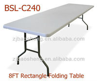 8FT cheap plastic folding dining tables