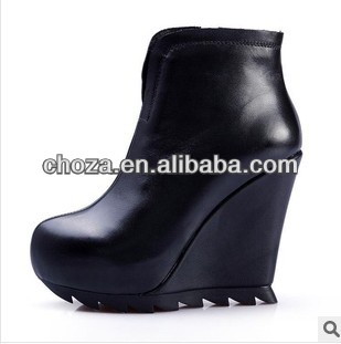 C60702A 2013 EUROPEAN FASHION STYLE SEXY LADY 'S WEDGES HEEL ANKLE BOOTS